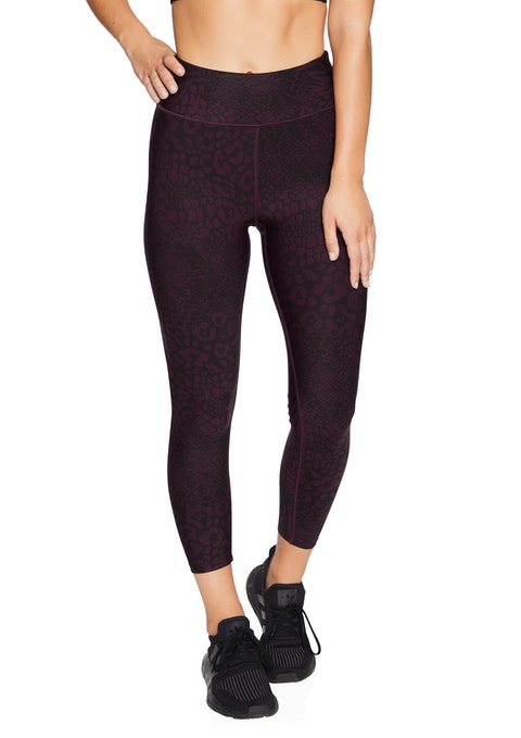 Bordeaux Shadow Squad Ankle Grazer Tights