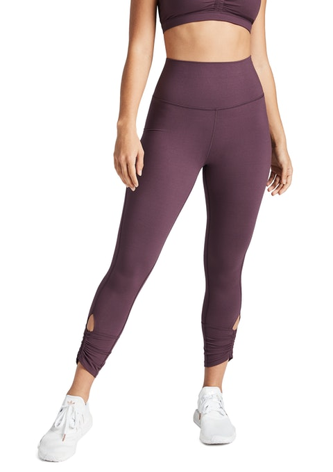 Raisin Luxesoft Ruched Ankle Grazer Tights