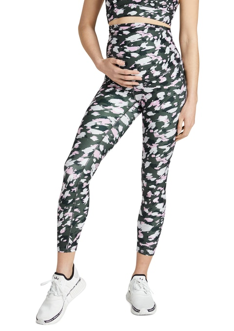 Brushed Maternity Print Ankle Grazer Tights
