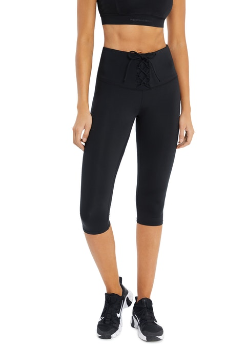 Black 3/4 Lace Up Front Tight