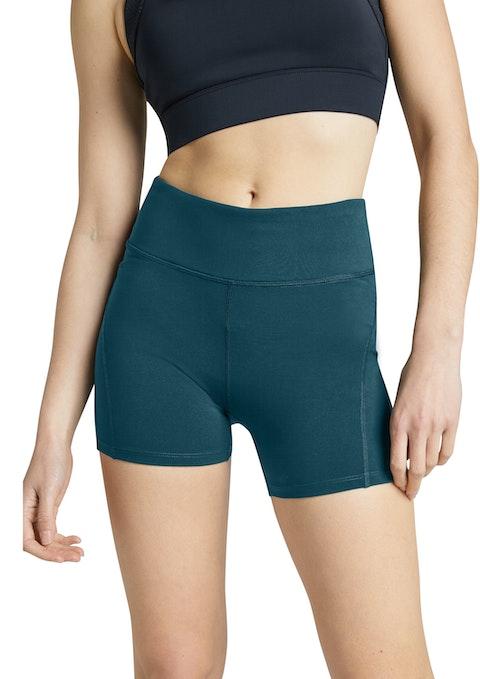 Dark Teal Seam Detail Bike Shorts