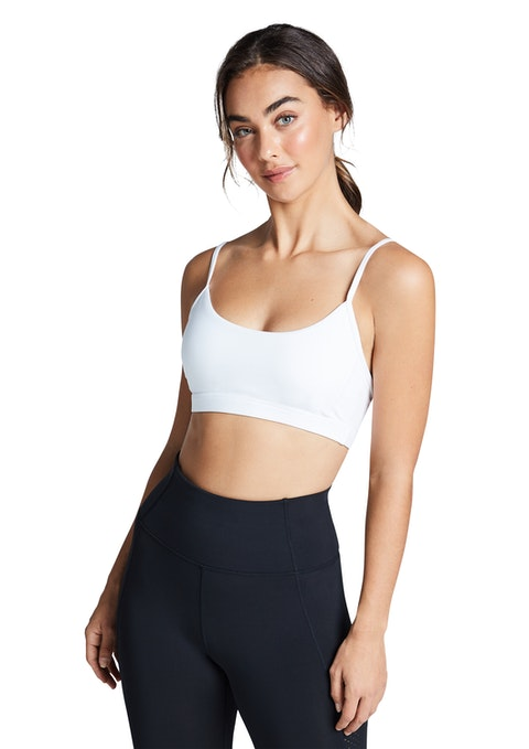 White Energy Low Impact Adjustable Sports Bra