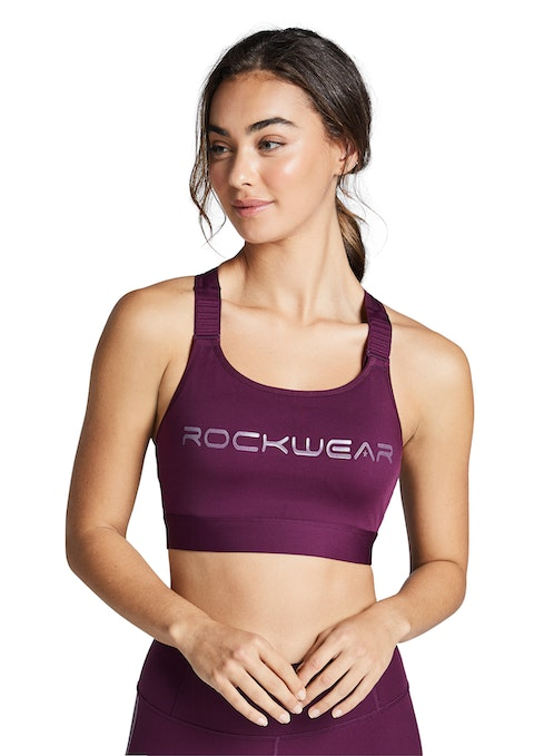 Bordeaux Reflective Run High Impact Sports Bra