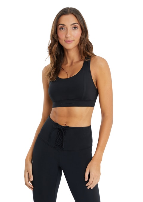 Black Serengeti Bonded High Impact Sports Bra