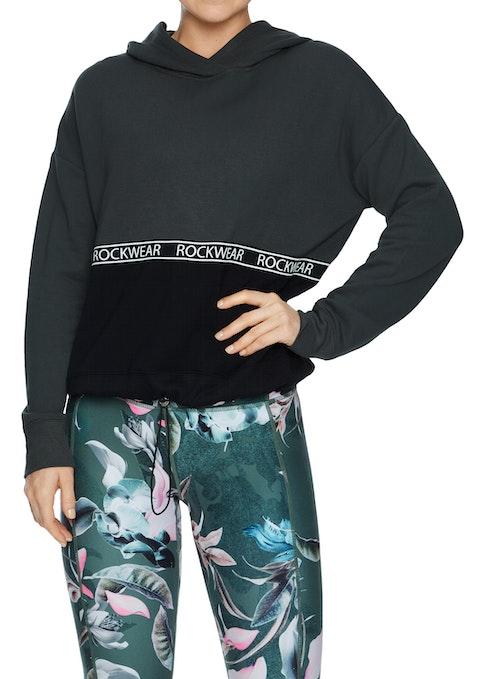 Khaki Magnolia  Colour Block  Hoodie