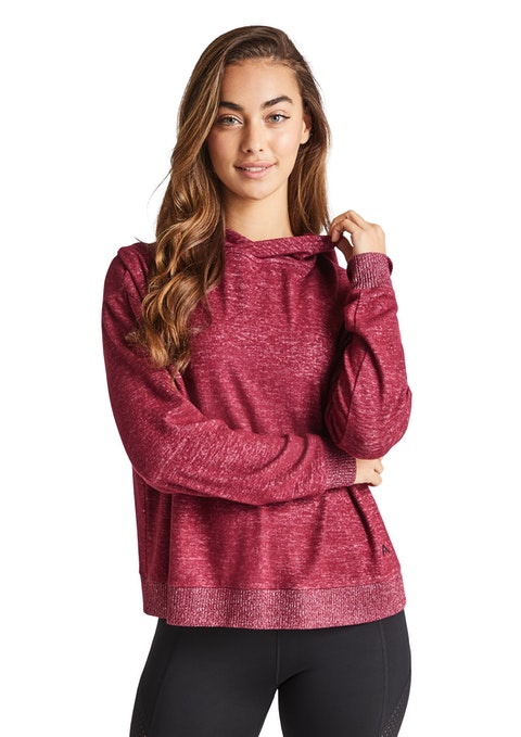 Pinot Very Berry Mock Knit Hoodie