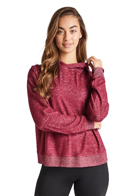 Pinot Very Berry Mock Knit Hoodie