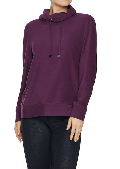 Bordeaux Super Soft Funnel Neck Sweat