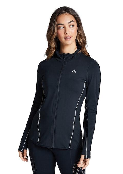 Black Reflective Running Jacket