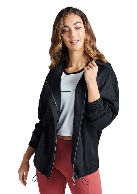 Black Woven Casual Jacket
