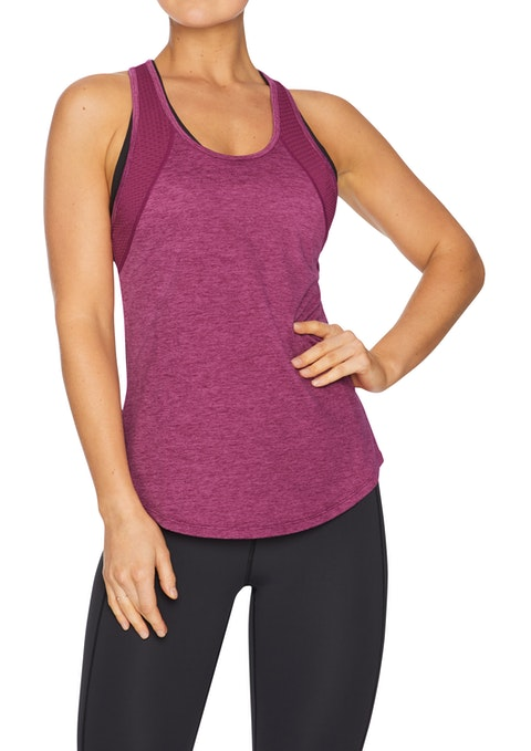 Mulberry Passion Racer Back Active Singlet