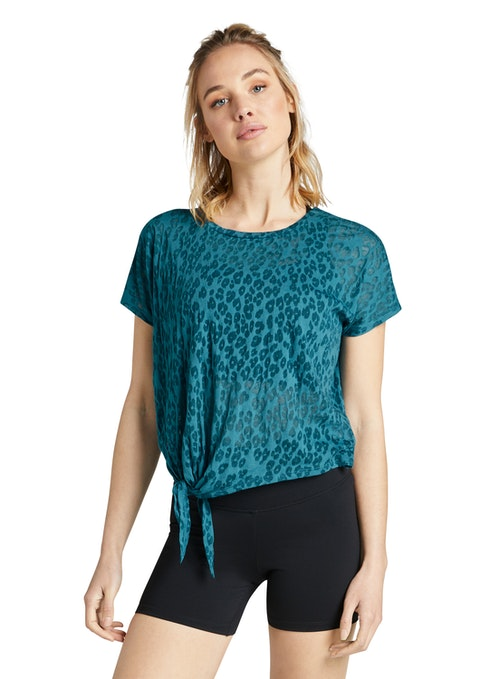 Jewel Tie Side Burnout Tee