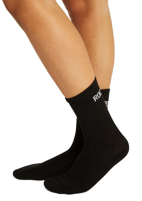 Black Training Crew Socks
