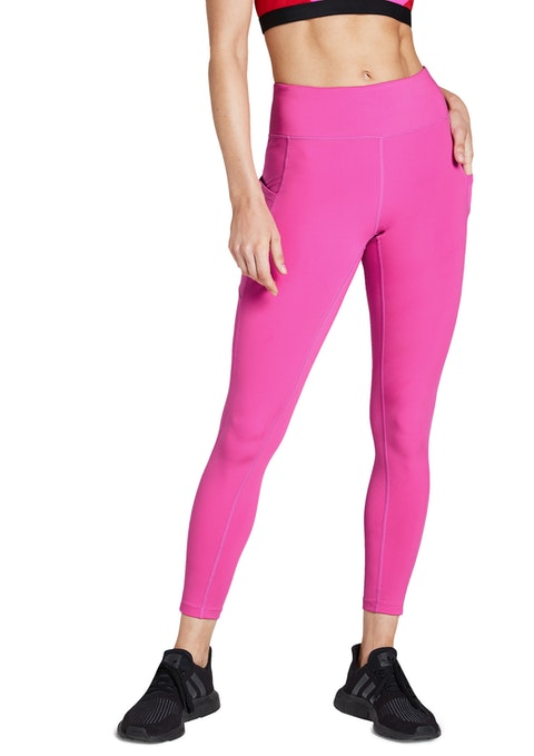 Shocking Pink Sprint Pocket Full Length Tights