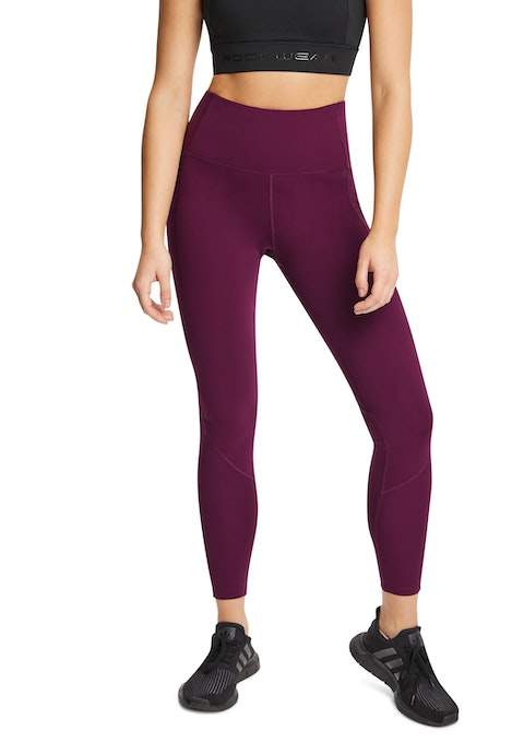 Bordeaux Mantra Curve Seam Full Length Tights