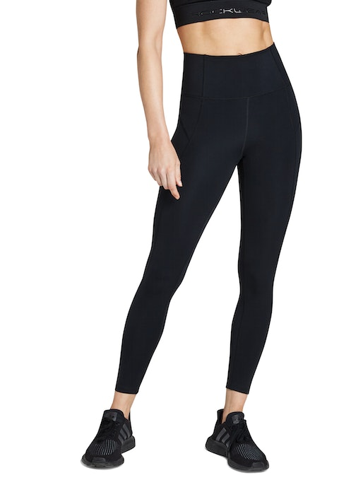 Black Compression Full Length Tights