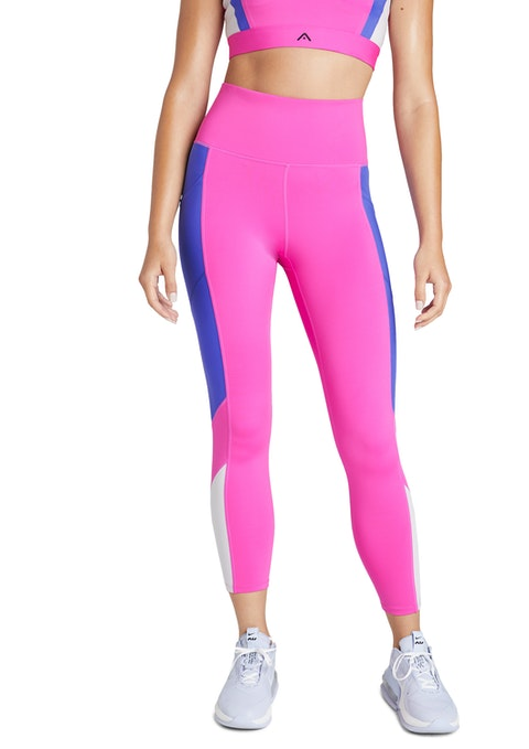 Shocking Pink Popsicle Colour Blocked Ankle Grazer Tights