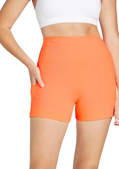 Mango Ultra High Rise Seam Detail Booty Shorts
