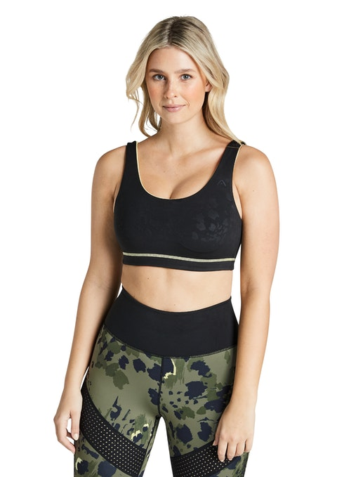 Indiana Black Reversible Indiana Low Impact Sports Bra