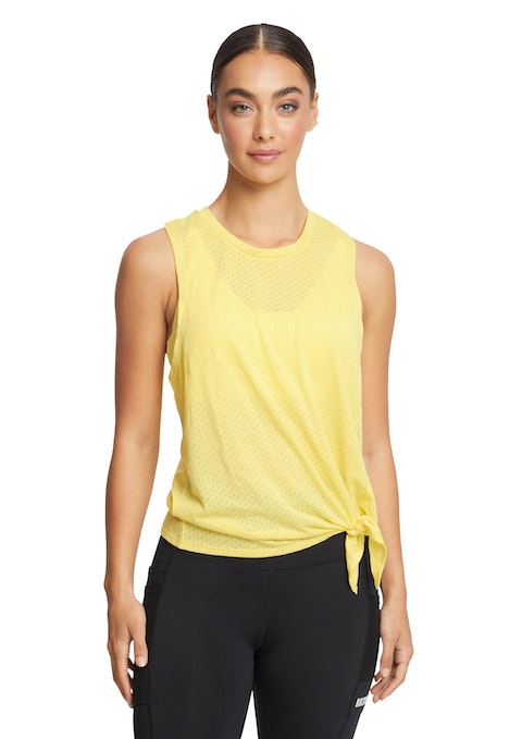Canary Sunrise Casual Mesh Singlet