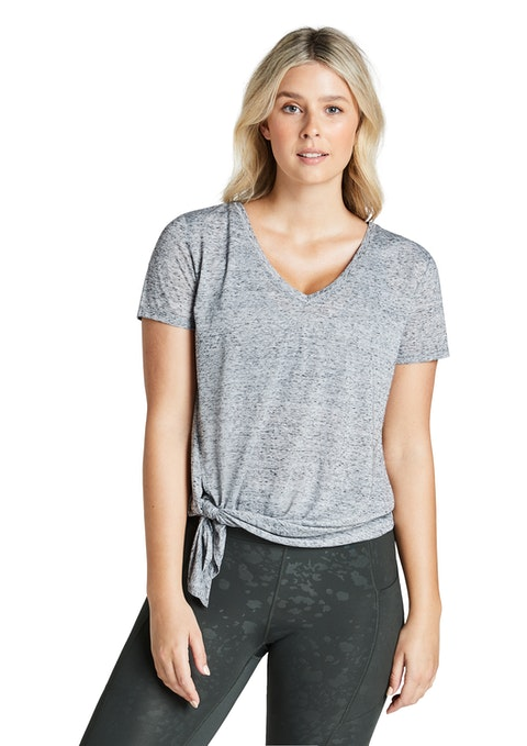 Light Grey Marle Indiana Tie Side Tee