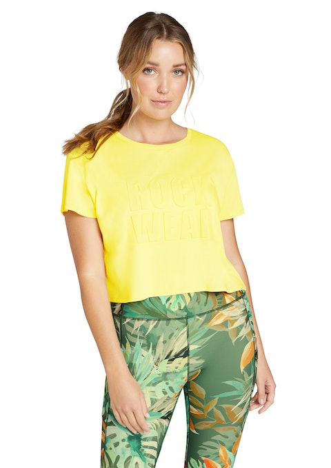 Canary Luau Logo Front Cropped Tee