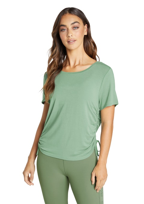 Thyme Topia Ruched Side Tee