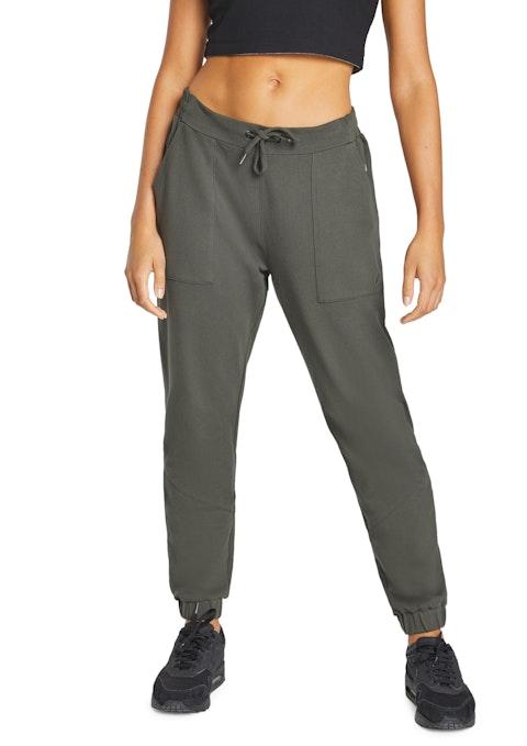Nori Twill Zip Detail Casual Pants
