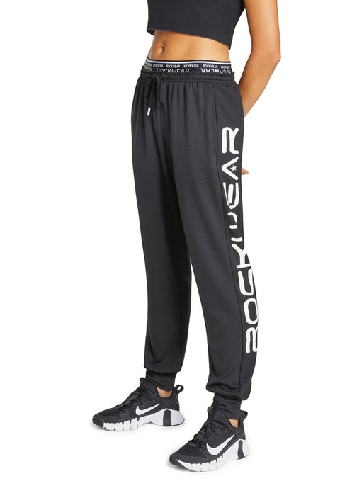 Black Rockwear Logo Trackpants