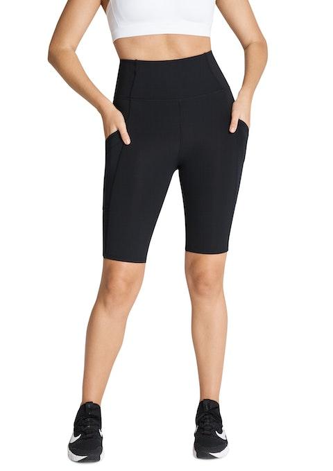 Black Cross Pocket Bike Shorts