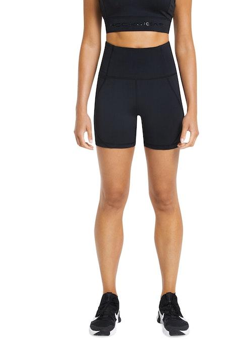 Black Seam Detail Bike Shorts