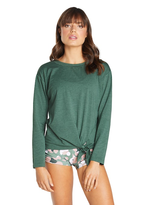 Forest Revive Tie Front Top