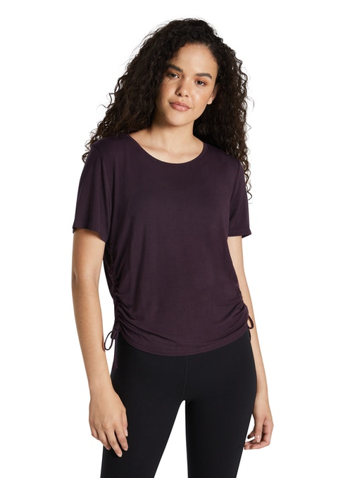 Blackberry Magnolia Ruched Side Tee